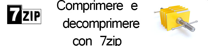 Compressione e decompressione dei file (7zip)