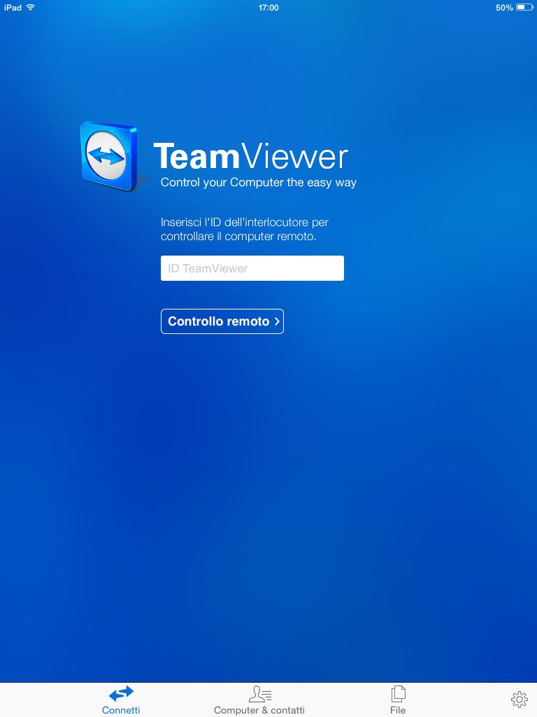 TeamViewer su iPad