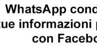 WhatsApp condivide informazioni personali con Facebook