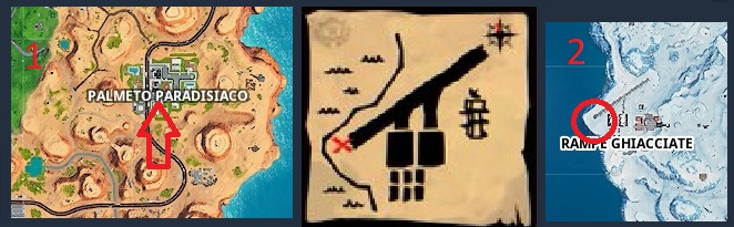 Mappa Del Tesoro Di Palmeto Paradisiaco Fortnite